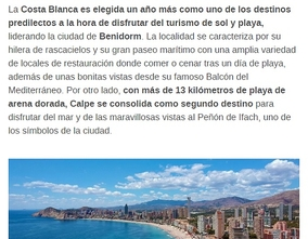 Beach destinations most popular by the Spanish for the summer